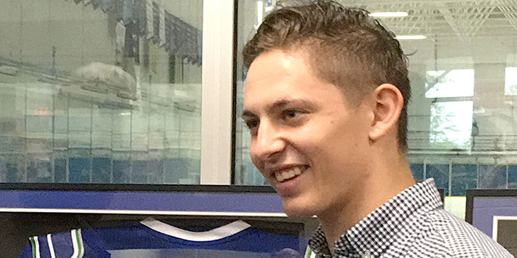 Canucks Stecher returns to his roots