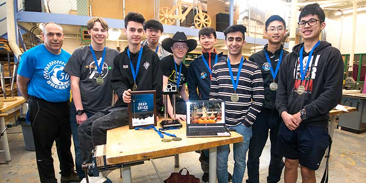 Burnett robotics team flexes tech muscles