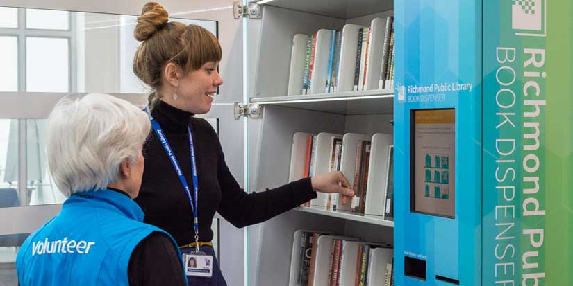 New book dispenser broadens borrowing potential