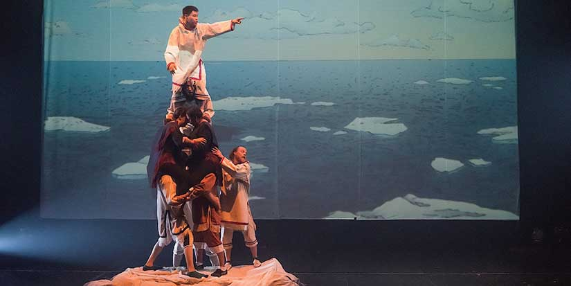 Inuit storytelling through acrobatics