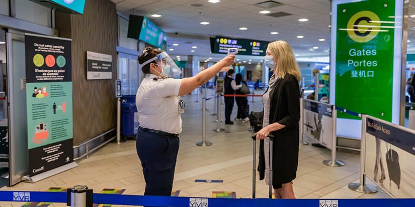 Airport introduces temperature screening