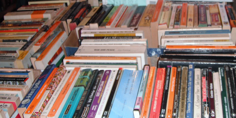 Library book sale goes curbside