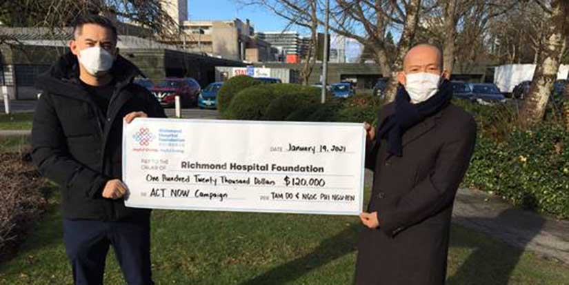 Local family donates $120K to hospital