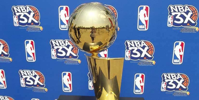 NBA championship trophy making rare BC appearance