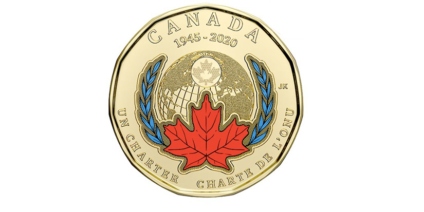 Loonie marks signing of UN charter