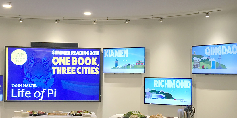 One Book, Three Cities links readers in two nations