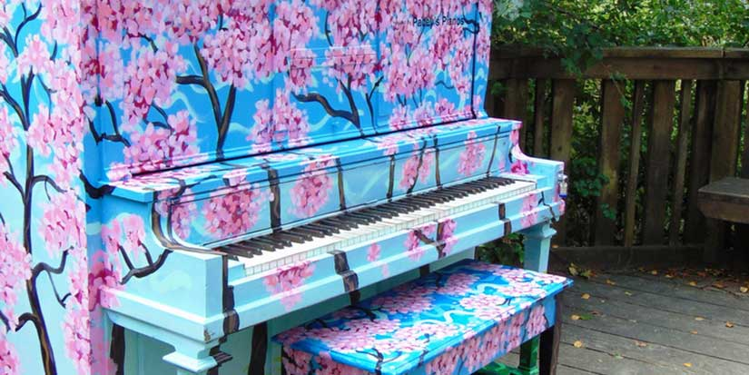 Play on painted pianos in unexpected places around Richmond