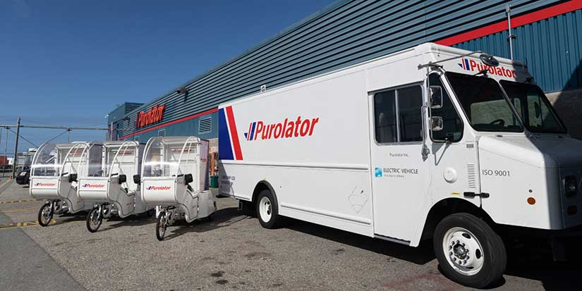 Purolator announces all-electric delivery vehicles