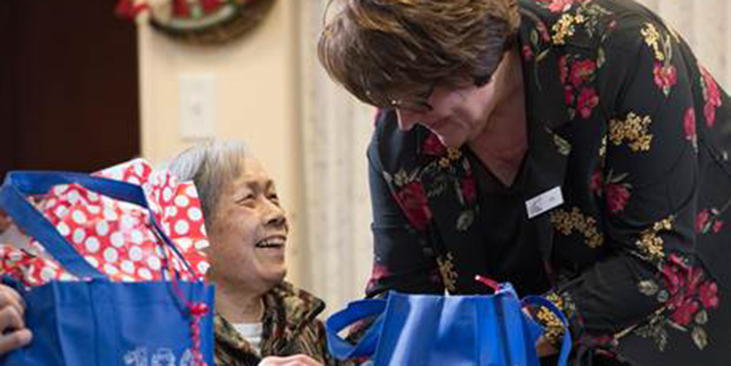 Stocking stuffers bring holiday cheer to elderly