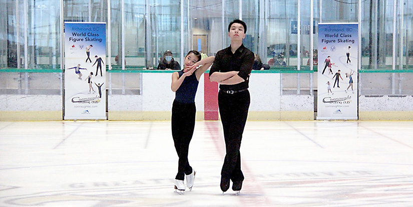 Pair skating champions find synchronicity on ice