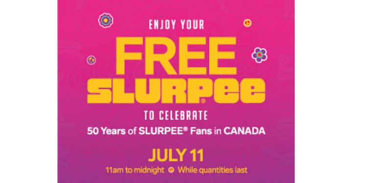 Slurpee Day today at 7-Eleven