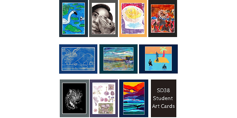 Art cards highlight student talent