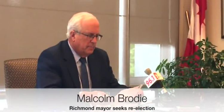 Mayor of Richmond since 2001, Malcolm Brodie announced Tuesday he is seeking re-election.
