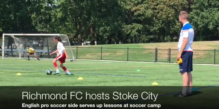 Stoke City Summer Soccer Camp. Richmond FC, in partnership with Stoke City FC, held a five-day pre-season camp for boys and girls to kick off the 2018-19 season.