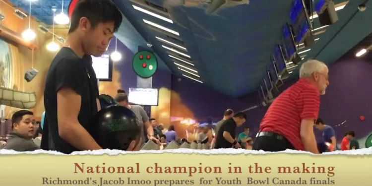 Richmond's Jacob Imoo won the YBC national 10-pin bowling championship May 7 in Laval, Quebec.