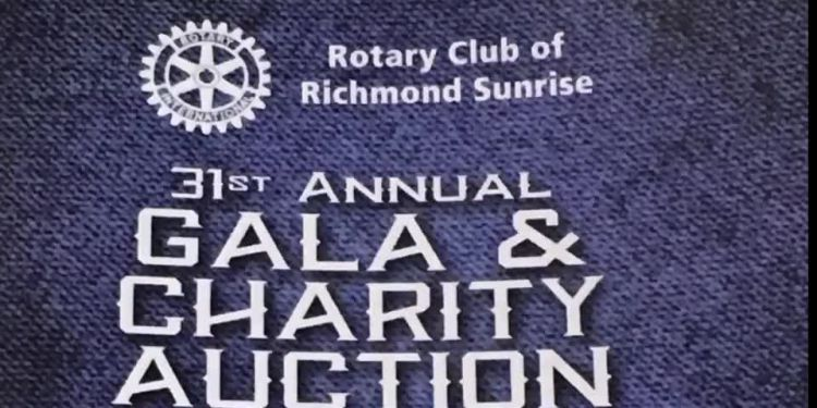 Richmond Rotarians reflect motto Service Above Self at annual charity fundraiser.